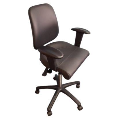 PHE Officechair sort læder