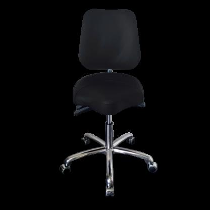 PHE Dental med alu stel - Ergonomisk stol og kontorstol - Egholm Skind ApS.