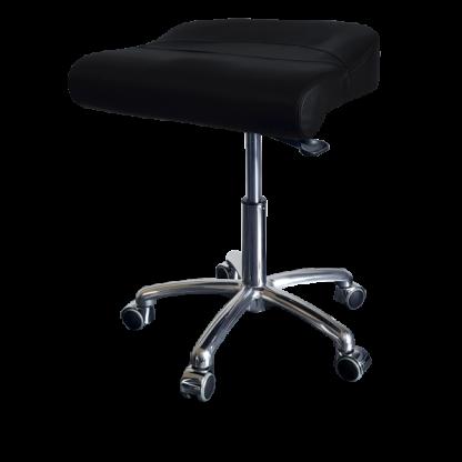PHE Randers stol - Ergonomisk stol og taburet m. alu stel - Egholm Skind ApS.