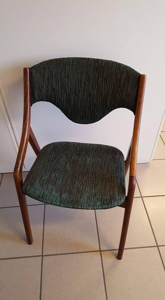 Ompolstring af stol før billede.