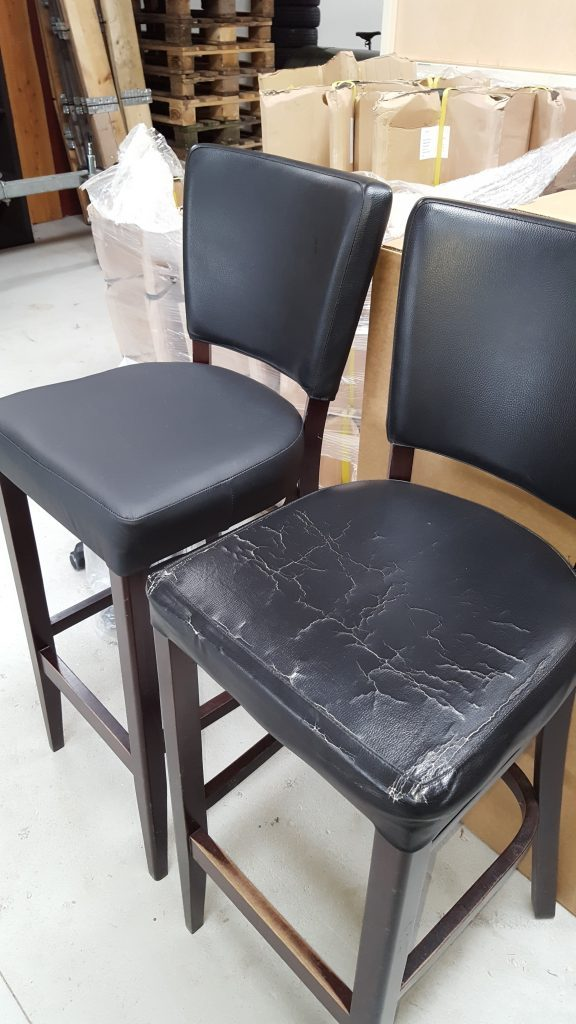 Ompolstring af stole før og efter billede