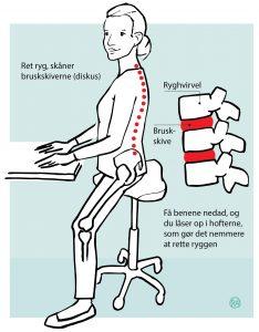 Ergonomisk siddestilling