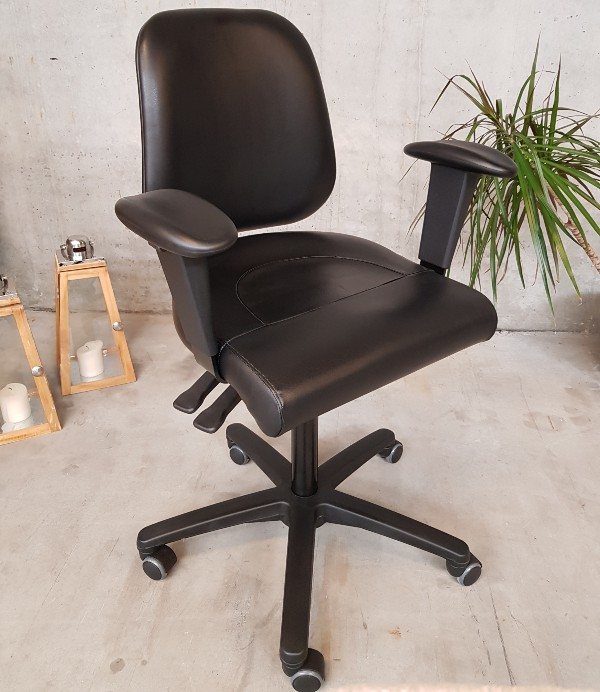 PHE Office Chair sort læder