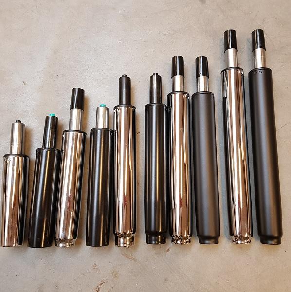 gascylindere i flere højder