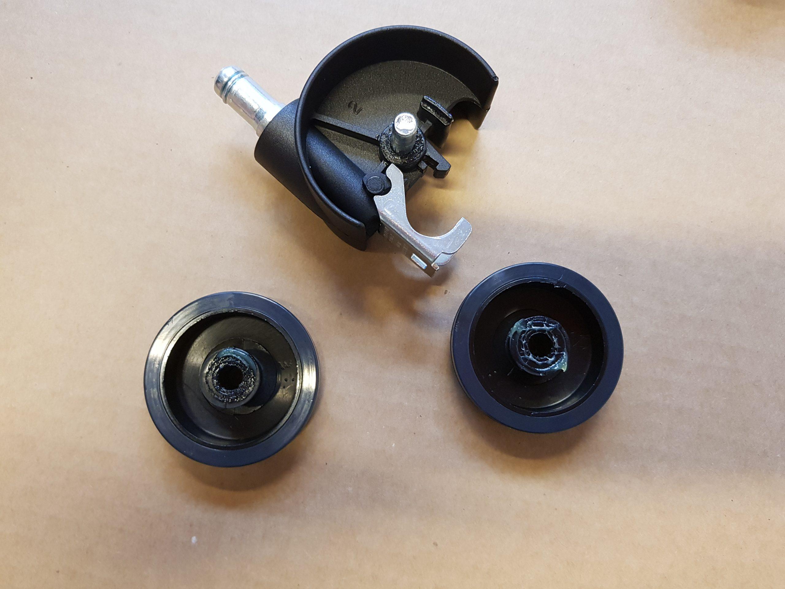 Frisørhjul skilt ad